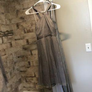 J crew bridesmaids dress light gray size 6